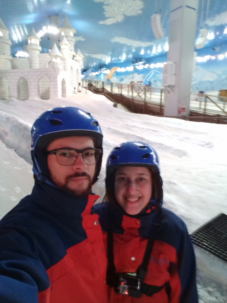 área de neve do snowland
